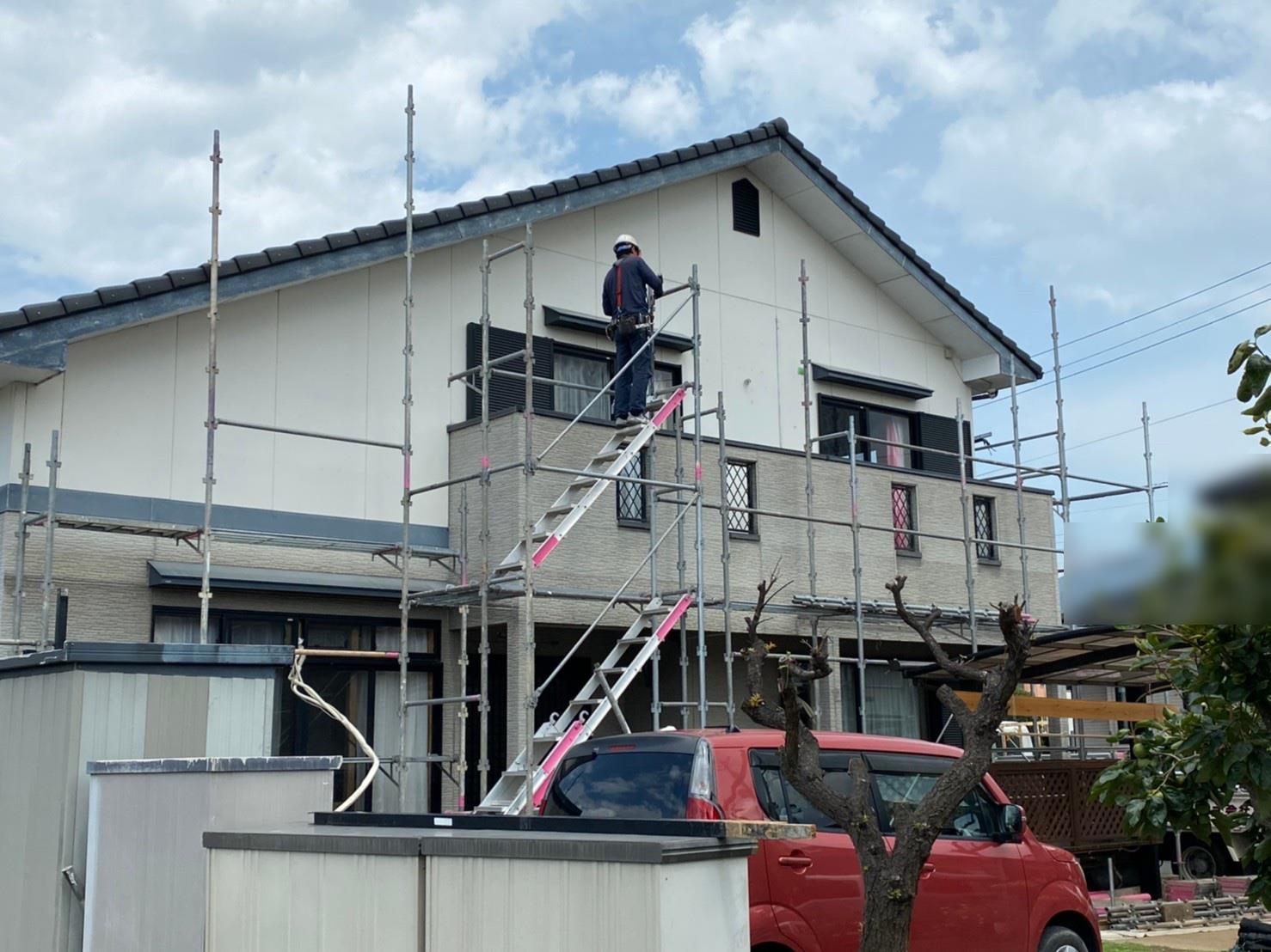 八幡西区 S様邸 足場設置工事 を行いました!