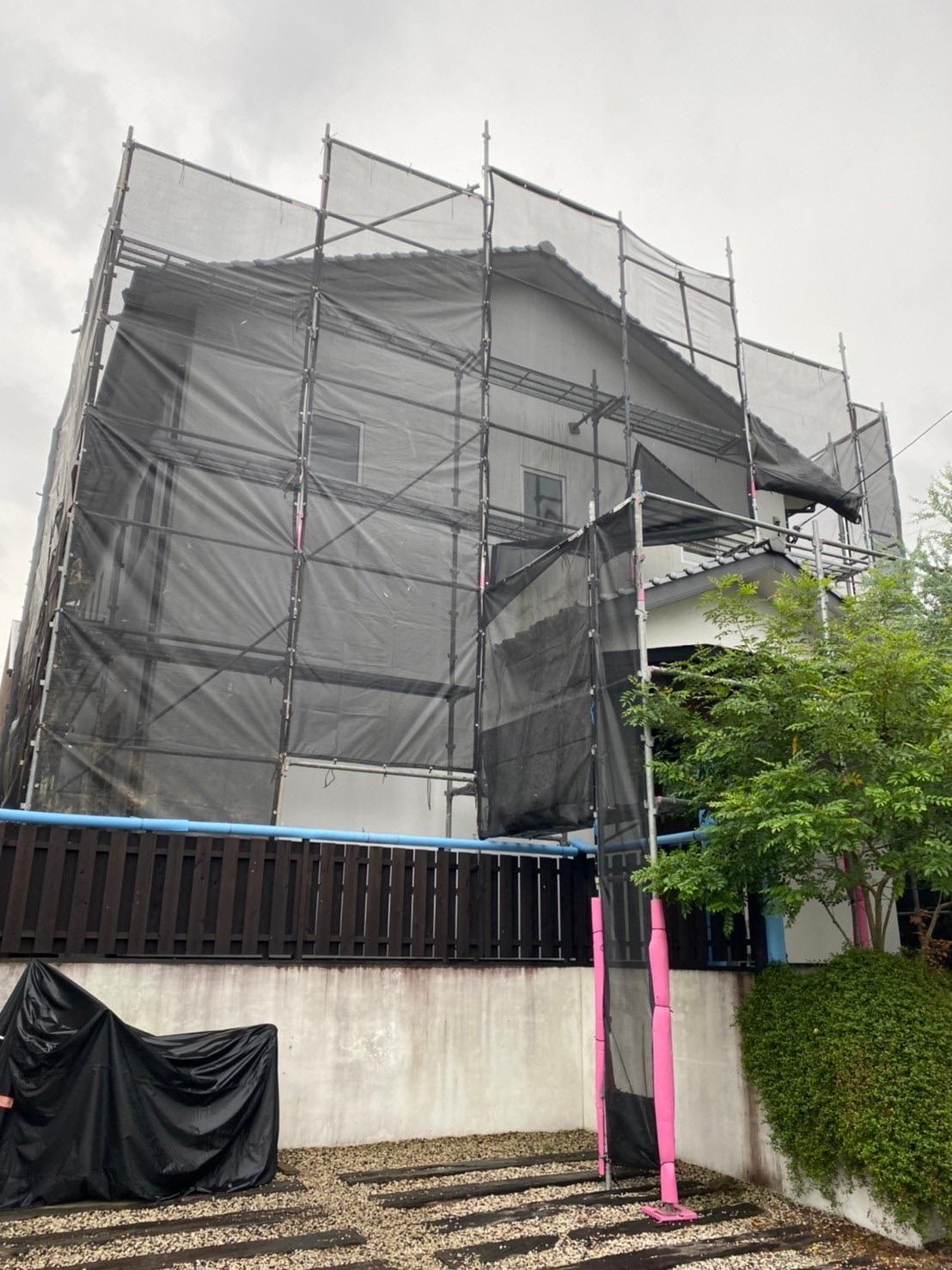 福岡県 京都郡 I様邸 足場設置工事 を行ってきました!