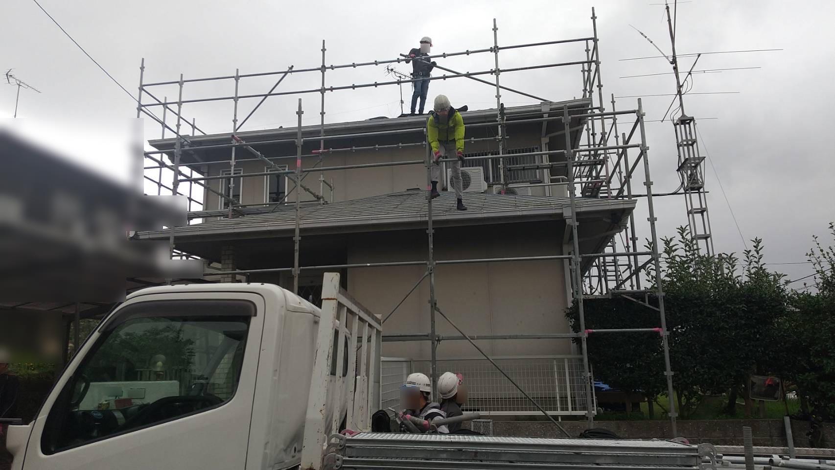 福岡県 八幡西区 N様邸 足場設置工事 行いました!