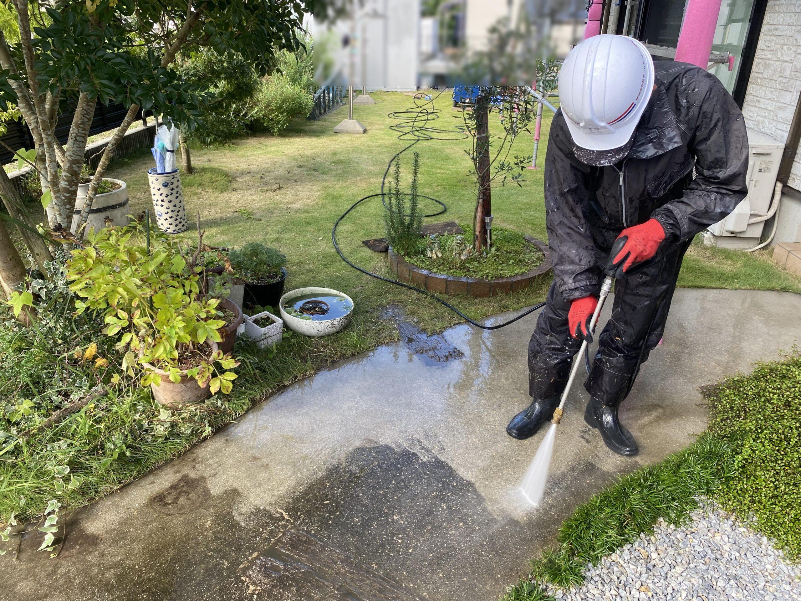 田川市 T様邸 高圧洗浄工事 行いました!
